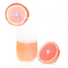 Bebida de pomelo-naranja