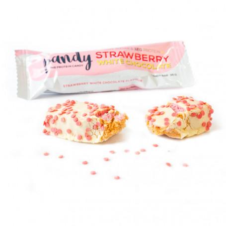 Barritas Proteicas Pandy Protein Fresas con chocolate blanco- A la unidad