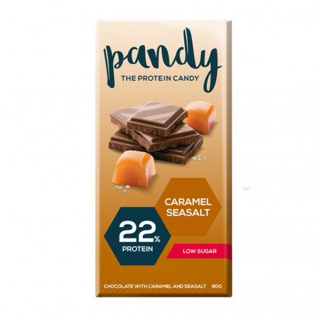 Pandy Protein Chocolate proteico con caramelo y sal marina 80g