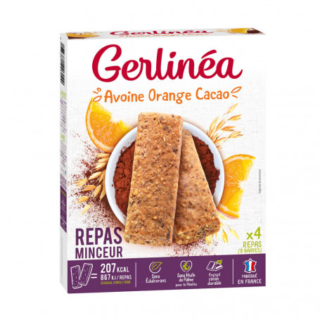 Barres Repas Avoine Orange & Cacao Gerlinéa