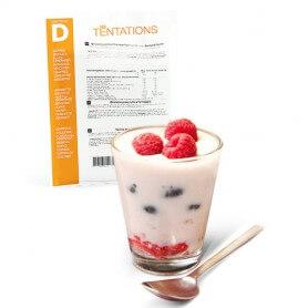 Yogur de frutas rojas