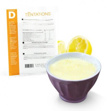 Flan pastelero sabor limón