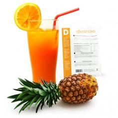Bebida de piña y naranja