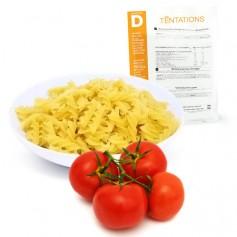 Fusilli con salsa de tomate