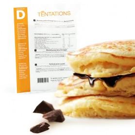 Pancake y crema de chocolate