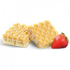 Gofres aroma fresa hiperproteicos