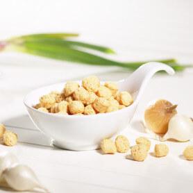 Bolitas crema de soja y cebolla