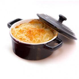 Pastel de patata hiperproteico