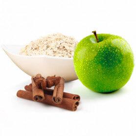Copos de avena, manzana y canela